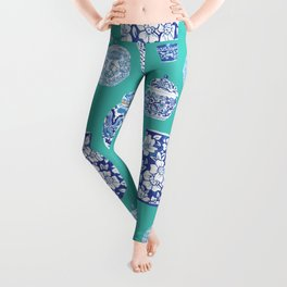 Chinoiserie Ginger Jar Collection No.5 Leggings