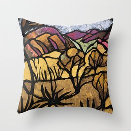 """""""A Mile Out of Alice Spings"""" Margaret Preston Throw Pillow"""