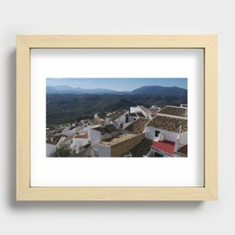 Roofs of Olvera Recessed Framed Print