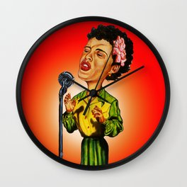 Lady Day Singing the Blues Wall Clock