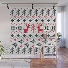 HOLIDAY SWEATER PATTERN Wall Mural