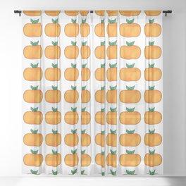 crazy pumpkin halloween vibes Sheer Curtain