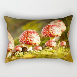 Beautiful but toxic - Fly agaric - Amanita - Autumn illustration - #society6 #buyart Rectangular Pillow
