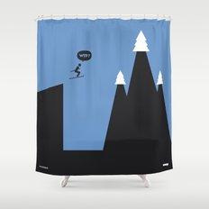 WTF? Ski Shower Curtain