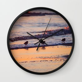 Colorful Pipers Wall Clock