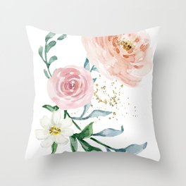 Rose Arrangement No. 1 Throw Pillow