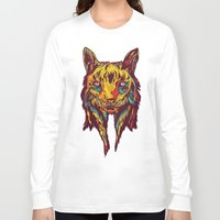 rare Long Sleeve T-shirts featuring BE RARE* - Iberic Lince by Vasco Vicente