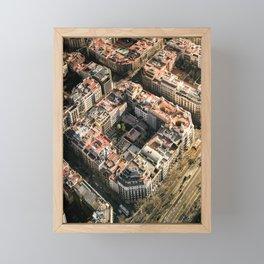 Apartment Block in Barcelona Framed Mini Art Print