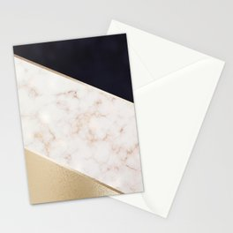 Gold Marble & Navy Stationery Cards