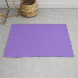 Dark Chalky Pastel Purple Solid Color Rug