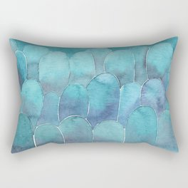 Ble abstract shapes Rectangular Pillow