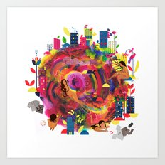 In The City: Delights Art Print