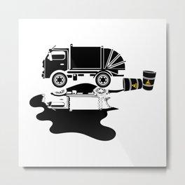 Oil Slick Metal Print