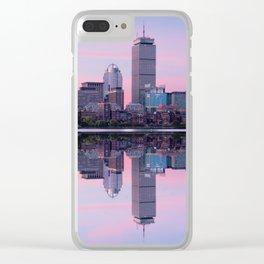 Boston before sunrise Clear iPhone Case