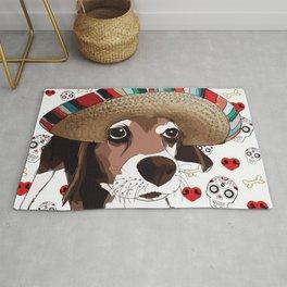 Cinco de Beagle Dog Rug