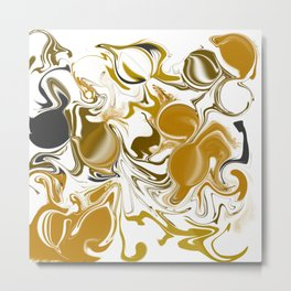 The marble effect Metal Print