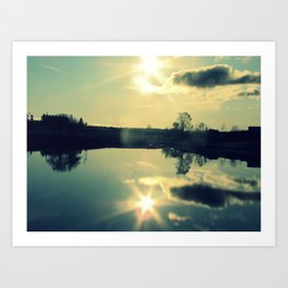 Reflections in the Water Art Print