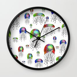 JELLYFISH BLOOM Wall Clock