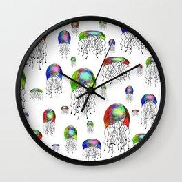 JELLYFISH BLOOM Wall Clock