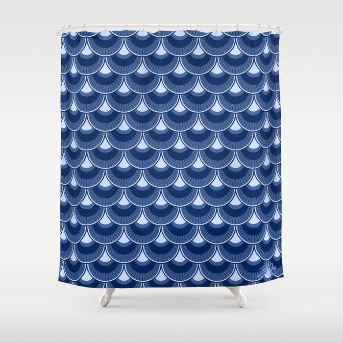 Koi Nobori Magoi Shower Curtain