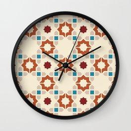 Tiled Geometric Moroccan Pattern Wall Clock