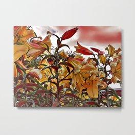 Painted Lilies Metal Print