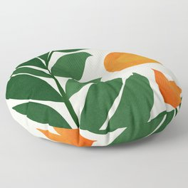 Tropical Forest Sunset / Mid Century Abstract Shapes Floor Pillow