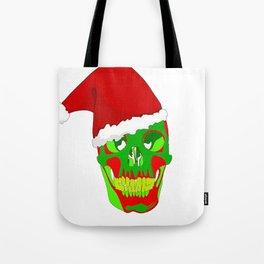 The Death Of Christmas - Santa's Skull  Tote Bag