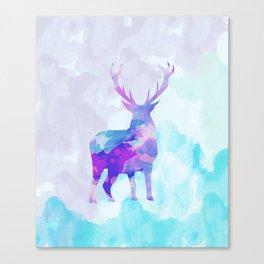 Abstract Deer II Canvas Print