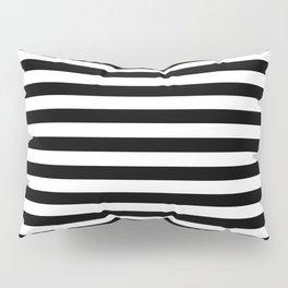Black White Stripes Minimalist Pillow Sham