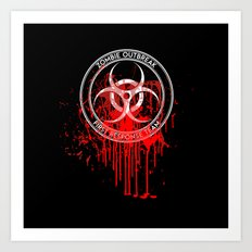 Zombie Outbreak First Response Team Art Print