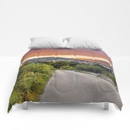 colorful sunset over the Ciovo island, Croatia Comforters