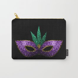 Mardi Gras Mask Purple Green Gold Sparkles Carry-All Pouch
