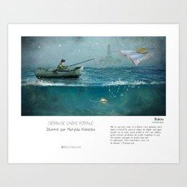 """""""Bakou"""" en Mots & Image (French touch) by Matylda Konecka Art Print"""