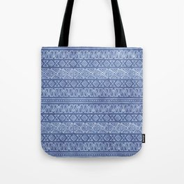 Tribal Batik in Cornflower Blue Tote Bag