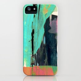 [Still] Hopeful [2] - a bright mixed media abstract piece iPhone Case