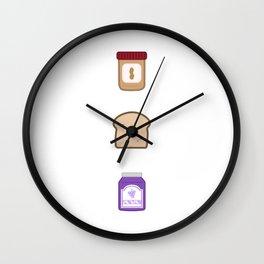PB&J Wall Clock