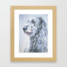 Irish Wofhound Dog Portrait Fine Art from an original painting by L.A.Shepard Framed Art Print