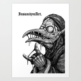 InsanitynArt's Plague Doctors of Death Illustration. Art Print