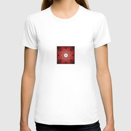 Silver red and black holiday star T-shirt