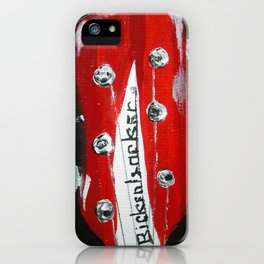 Rickenbacker Headstock Guitar Art Acrylic Painting iPhone Case