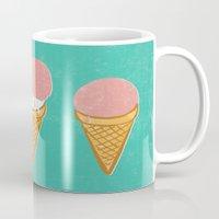 icecream Mugs featuring Icecream by atomic_ocean