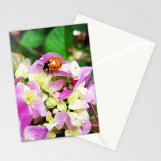 Ladybug on Hydrangea Stationery Cards
