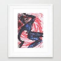 cabin pressure Framed Art Prints featuring Pressure by Lindsey Quakenbush