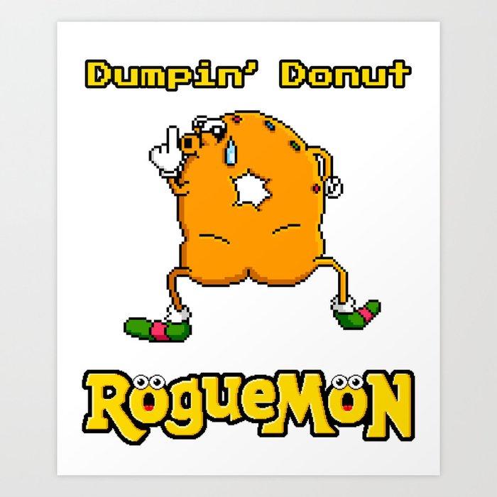 Dumpin' Donut Art Print