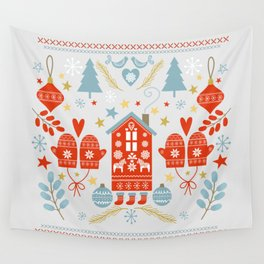 Laplander Winter Holiday Wall Tapestry