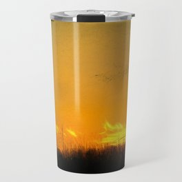 January Sunet - Lehigh Valley (Impressionist Version) Travel Mug