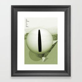To Die Outside Is To Live In Here - Green Framed Art Print