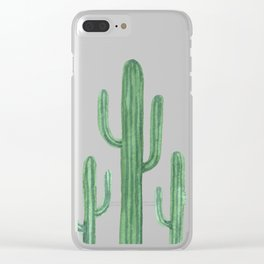 Desert Cacti 3 Clear iPhone Case
