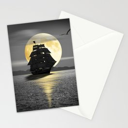A ship with black sails Stationery Cards